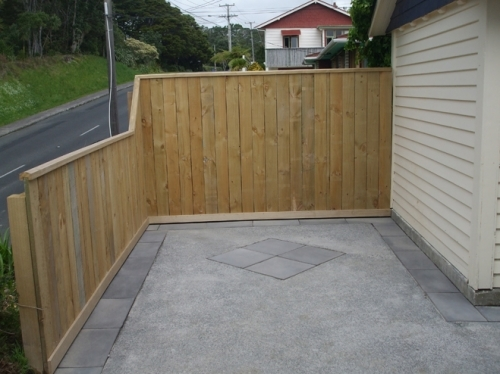 Capped Timber Paling Fence 1.2m & 1.8m high