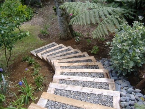 Steps and Landscaping