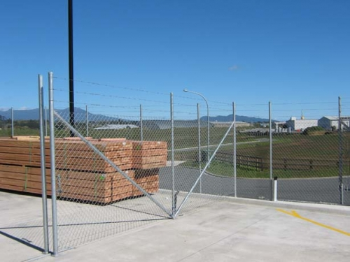 2.3m High Barbed Steel Security Fence