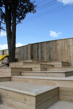 Stepped decking